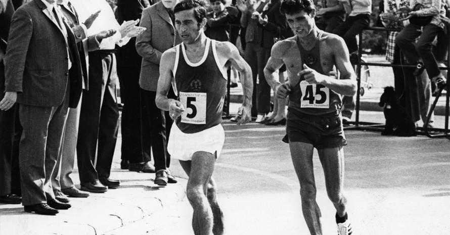 Das Foto zeigt den Olympiasieger Christoph Höhne bei einem Wettbewerb 1970 in Eschborn im Taunus. Foto: picture-alliance