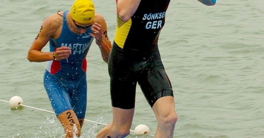 Peer Sönksen belegte im Triathlon Platz vier.