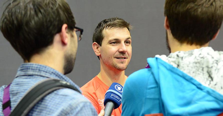 Timo Boll wird wegen einer Lebensmittelvergiftung auch im Einzelwettbewerb der Europaspiele nicht starten. Foto: DTTB