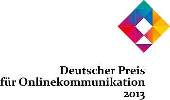 """""""Wir für Deutschland""""  wurde mit dem Deutschen Preis für Onlinekommunikation 2013 in der Kategorie """"Kampagne von Verbänden und NGOs"""" ausgezeichnet"""