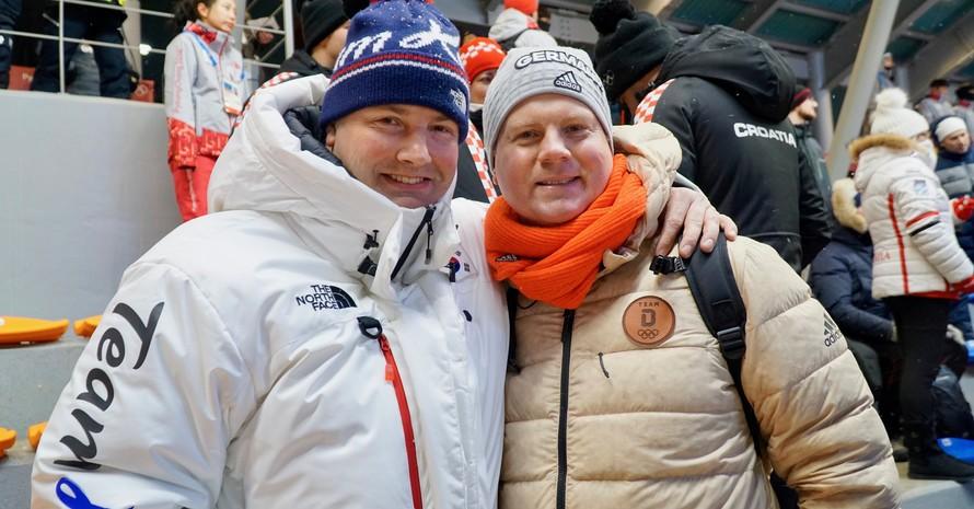 Auch der Pate des DOJL 2014, Andre Lange, war an der Rodelbahn.