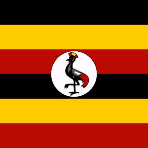 Flagge. Uganda