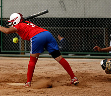 Softball bein den World Games 2014 in Cali. Foto: picture-alliance