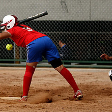 Softball bein den World Games 2014 in Cali. Foto: picture-alliance