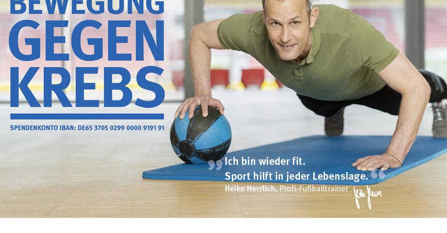 Fußballtrainer Heiko Herrlich hat den Krebs besiegt. Foto: Deutsche Krebshilfe