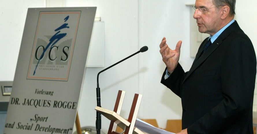 IOC-Präsident Jaques Rogge hielt an der TU Darmstadt einen Gastvortrag. Foto: Völker