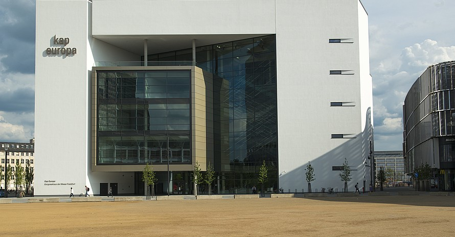 Das Kongresshaus Kap Europa an der Messe in Frankfurt am Main ist der Tagungsort der 16. DOSB-Mitgliederversammlung 2019. Foto: picture-alliance