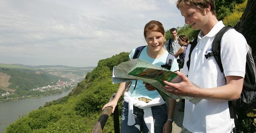 Wanderaktion zum Internationalen Tag der Biologischen Vielfalt zum Beispiel auf dem Rheinsteig, Foto: Rheinland-Pfalz Tourismus GmbH