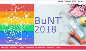 BuNT 2018 Logo Netzwertreffen queere Sportvereine DOSB