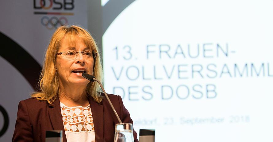 Petra Tzschoppe wird am 1. Dezember wieder als Vizepräsidentin Frauen und Gleichstellung kandidieren. Foto: LSB NRW/Andrea Bowinkelmann