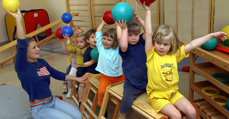 """""""Kinder l(i)eben Bewegung"""", so das Motto der Tagung in Essen. Copyright: picture-alliance"""
