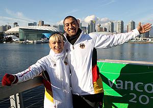 Eiskunstlauf-Paar Aljona Savchenko und Robin Szolkowy in Vancouver . Copyright: picture-alliance