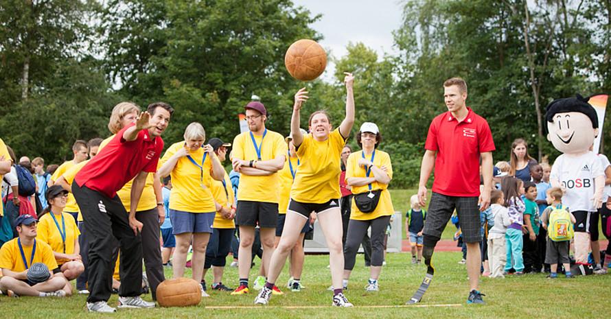 Inklusion war auch Thema der Sportabzeichen-Tour 2014 in Kiel. Foto: wirkhaus/Meike Engels