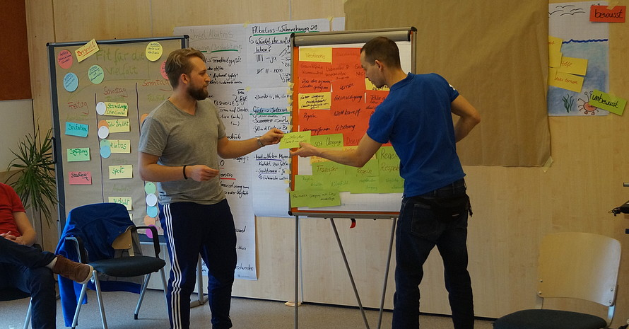 Ideensammlung während der DOSB-Ausbilderschulung