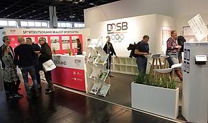 Der Messestand des DOSB auf der FSB 2017; Foto: DOSB