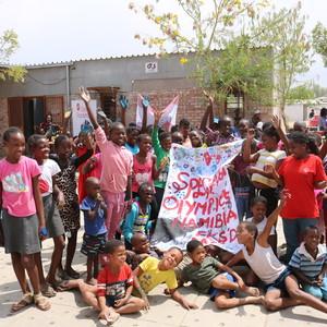 Gemeinsam Spaß haben bei Special Olympics Namibia ©DOSB