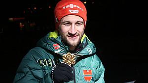 Markus Eisenbichler gewann bei der WM in Seefeld/Tirol insgesamt drei Goldmedaillen. Foto: picture-alliance