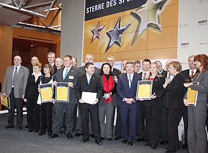 Die Sieger des vergangenen Jahres beim Empfang in Berlin. Foto: DOSB