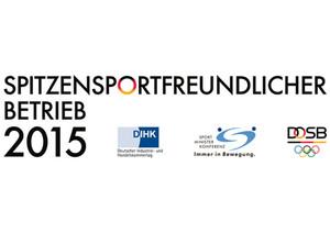 Spitzensportfreundlicher Betrieb 2015