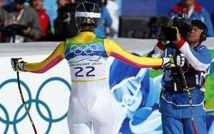 Olympiasiegerin Maria Riesch im Fokus der TV-Berichterstattung, Copyright: picture-alliance