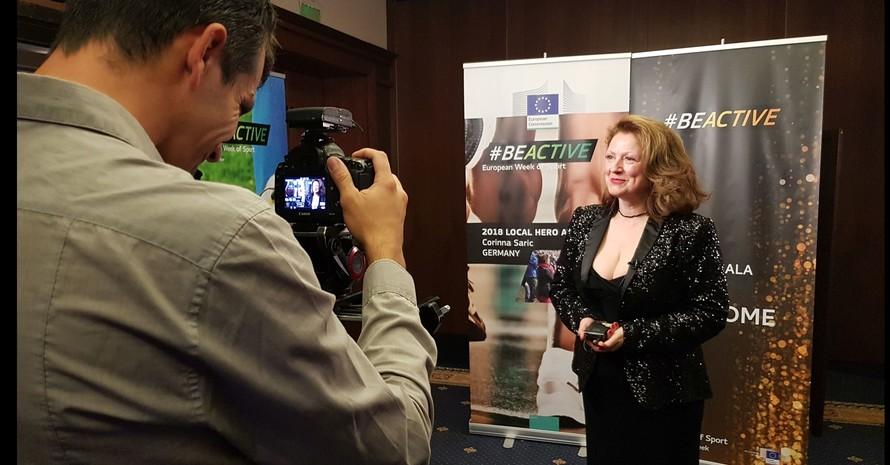 Corinna Saric wurde in Sofia (Bulgarien) mit dem #BeActive-Award der Europäischen Kommission ausgezeichnet. Foto: Katrin Jaenicke