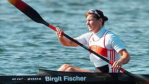 Kanutin Birgit Fischer war sowohl für die DDR als auch für das wiedervereinigte Deutschland sportlich erfolgreich. Foto: picture-alliance