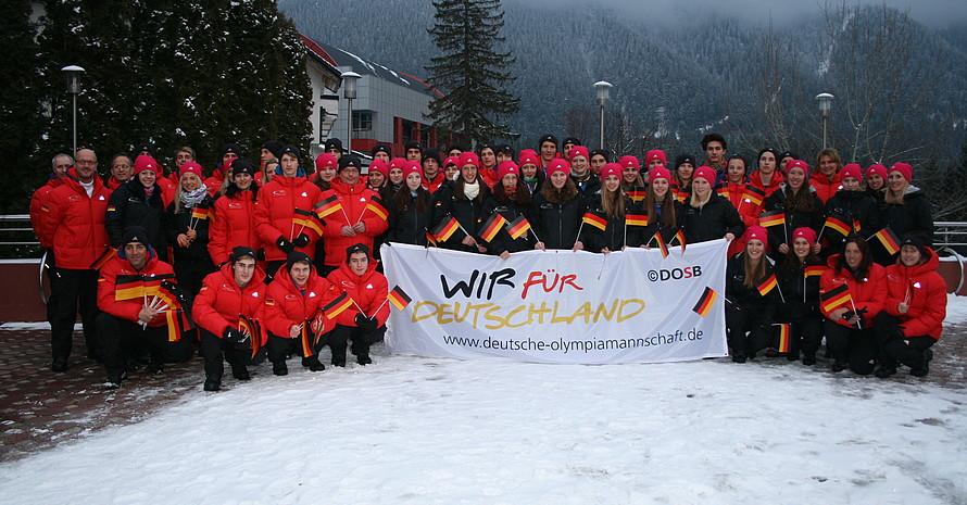 Das deutsche Team bei EYOF im rumänischen Brasov. Foto: Moritz Belmann