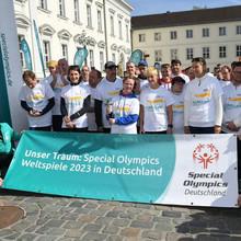 Fackellauf von Special Olympics Deutschland zu Kiel 2018. Foto: SOD/Juri Reetz