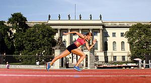 """Motto der Berliner Studierenden: """"Sei sportlich. Sei Humboldt. Sammle Punkte"""" (Foto: HU Berlin)"""
