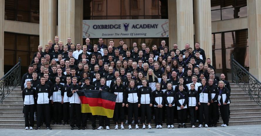 Das Jugend Team Deutschland beim European Youth Olympic Festival 2019 in Baku. (Foto: DOSB)