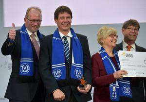 Der Turnverein 1848 Erlangen siegte mit seinem Angebot bei den Sternen des Sports im Januar 2019 in Berlin. Foto: BVR/DOSB /picture alliance