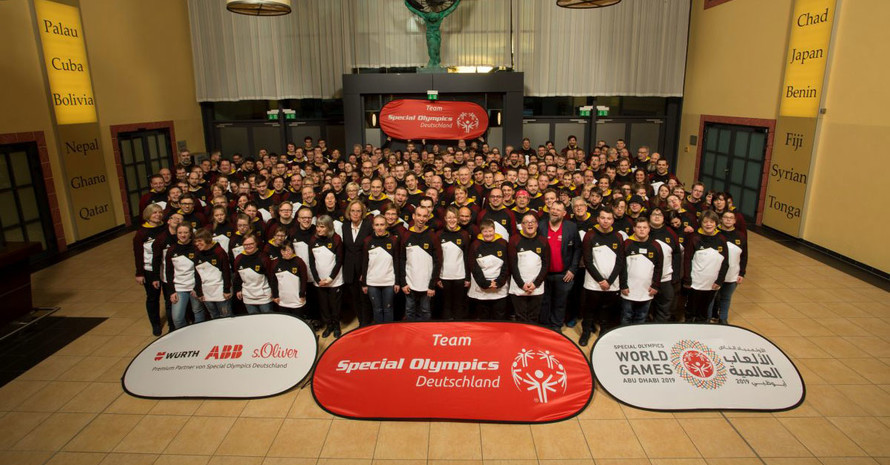 Das Team für die Special Olympics Weltspiele in Abu Dhabi. Foto: SOD/Jo Henker