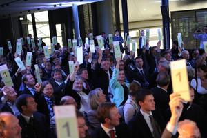Die Vertreter der Mitgliedsorganisationen des DOSB stimmen für eine erneute Bewerbung Münchens um die Olympischen Winterspiele. Foto: dpa/Jan Haas