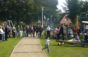 """Der """"Mehrgenerationenplatz"""" in Niebüll; Foto: Mission Olympic"""