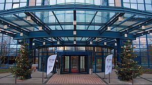 Das Maritim Airport Hotel empfängt die Delegierten zur 12. DOSB-Mitgliederversammlung.