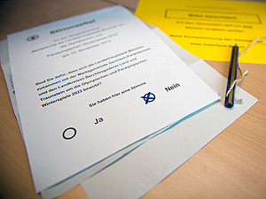 Die Mehrheit der Bürgerinnen und Bürger lehnten mit ihrer Stimme eine Bewerbung ab. Foto: picture-alliance