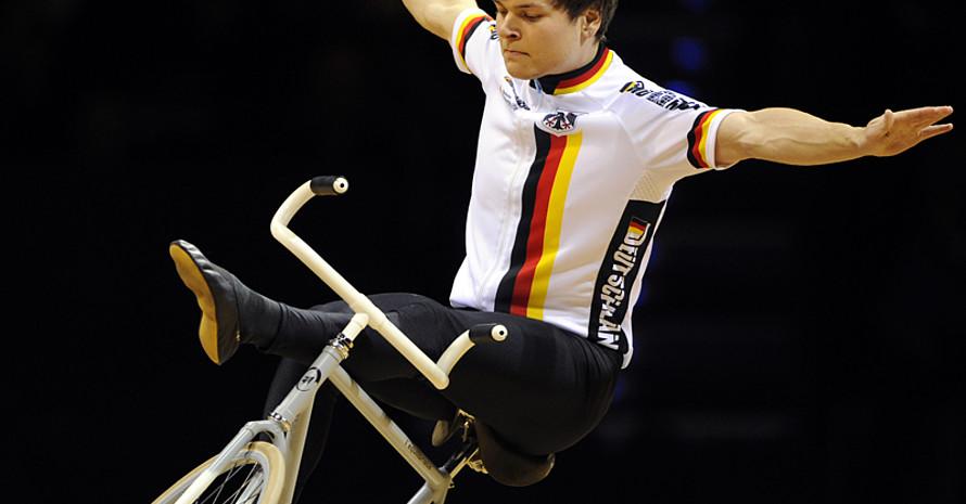 Weltmeister und Weltrekordhalter David Schnabel in Stuttgart. Foto: picture-alliance