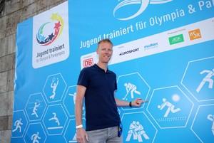 Jonas Reckermann, Beachvolleyball-Olympiasieger 2012 und Lehrer am Landrat-Lucas-Gymnasium in Leverkusen. Foto: DSSS/Sampics