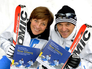Rosi Mittermaier-Neureuther und Christian Neureuther. Copyright: picture-alliance