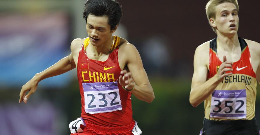 Patrick Domogala knapp hinter dem Chinesen Zhenye Xie, Foto: SYOGOC