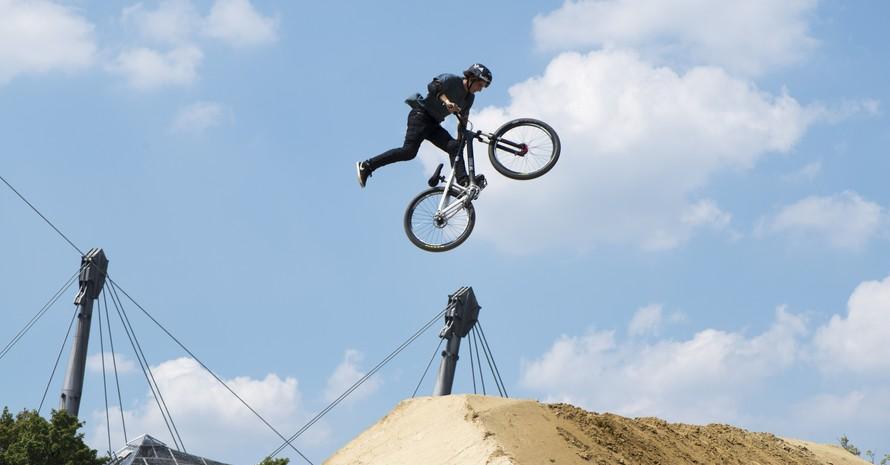 Die BMX-Wettbewerbe werden bei den European Championchips im Münchner Olympiapark durchgeführt. Foto: picture-alliance