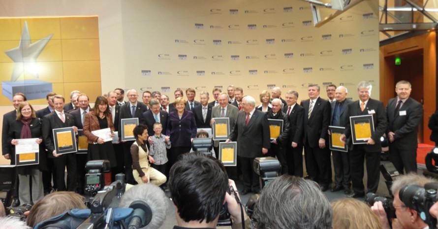 """Die Preisträger des """"Großen Sterns des Sports"""" in Gold. Foto: DOSB"""