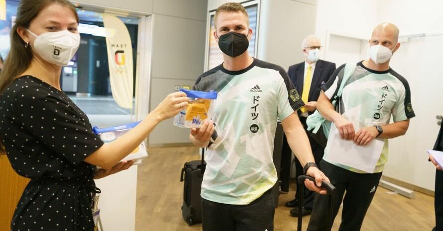 Das Team Deutschland wurde am Flughafen Frankfurt in der Business Class Lounge Z der Lufthansa intern verabschiedet. Foto: picture-alliance