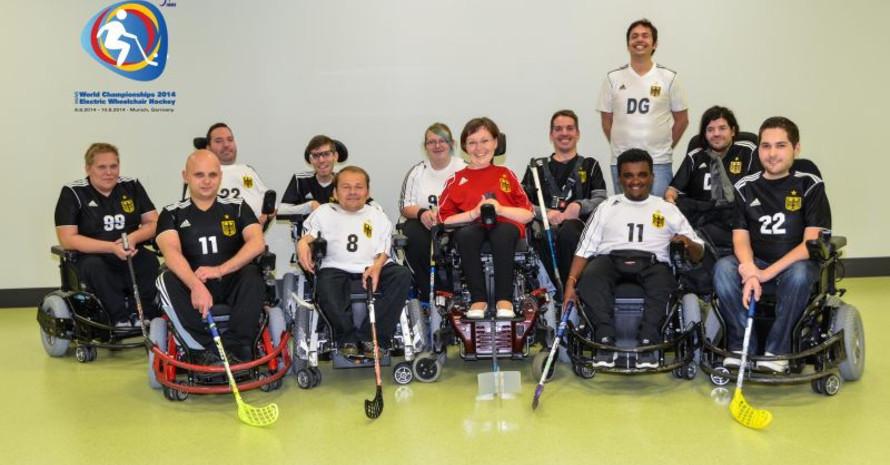 Die Deutsche Nationalmannschaft im E-Hockey möchte in München ihren WM-Titel verteidigen. Foto: EWH 2014