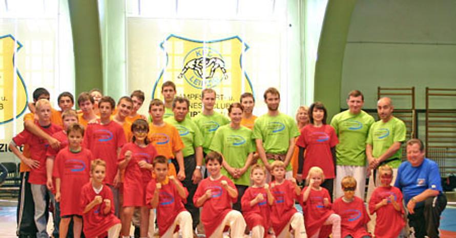 Die Mitglieder des KFC Leipzig beim Tag der Integration. Copyright: KFC Leipzig