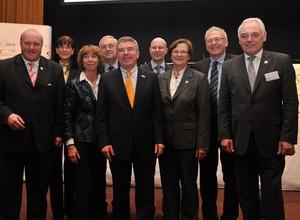 Das aktuelle Präsidium des DOSB kurz nach der Wahl bei der Mitgliederversammlung 2010 in München, Foto: Bowinkelmann
