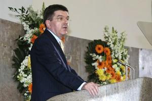 Schon einmal sprach DOSB-Präsident Thomas Bach in der Frankfurter Paulskirche: Am 22.5.2006 wurde hier die Gründung des DOSB gefeiert.