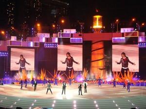 Szene von der Schlussfeier der Olympischen Jugendspiele in Singapur, Foto: Deutsche Jugend-Olympiamannschaft
