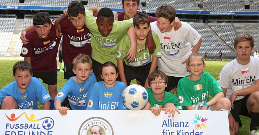 24 Mannschaften mit rund 300 Spielerinnen und Spielern waren in der Münchener Allianz Arena am Ball. Foto: DFB-Stiftung Sepp Herberger/Carsten Kobow