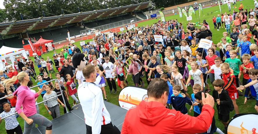Rund 1.000 Schülerinnen und Schüler waren in Göttingen am Start. Foto: Treudis Naß